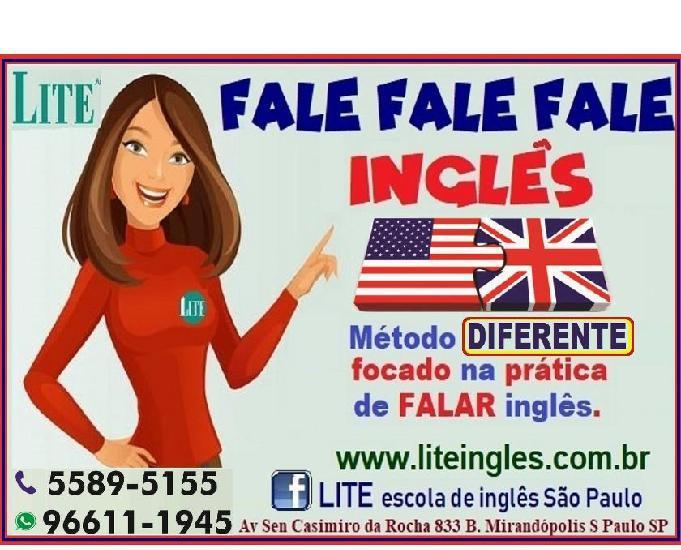 Curso intensivo de inglês, nos finais de semana
