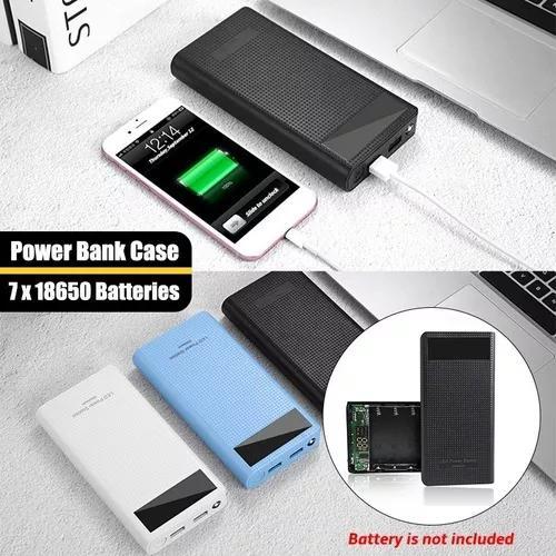 Diy caso banco caso poder portátil 7 x 18650 baterias caso