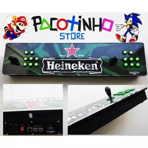 Fliperama portátil arcade 128gb 17932 jogos z.delay 1 metro