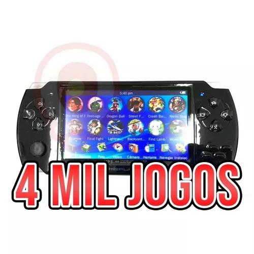 Nova mini game portátil 4000 mil jogos player mp3 mp4 mp5