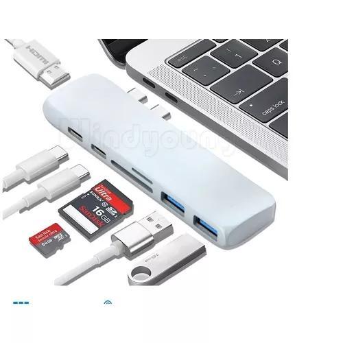 Adaptador hub hdmi 4k macbook pro / air usb c thunderbolt