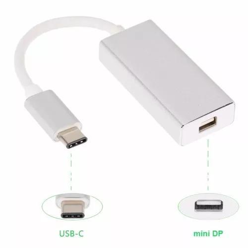 Adaptador usb-c tipo c mini displayport 4k cin