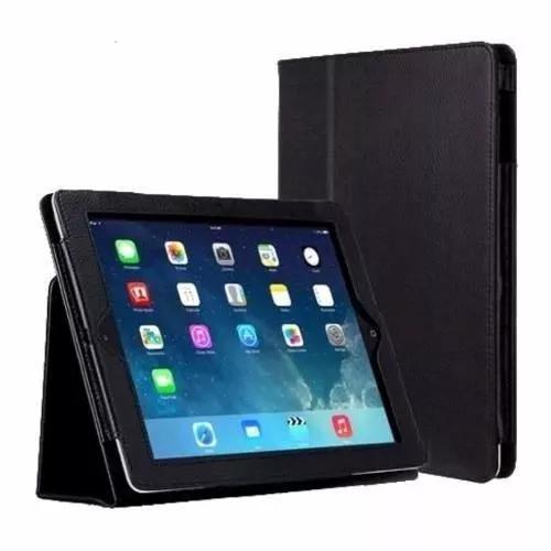 Capa book couro case apple ipad 6 air 2 retina 9.7