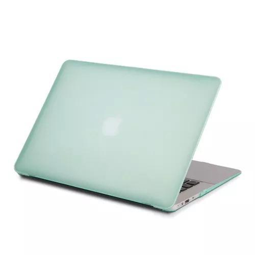 Capa verde agua para macbook air 13 e protetor de teclado