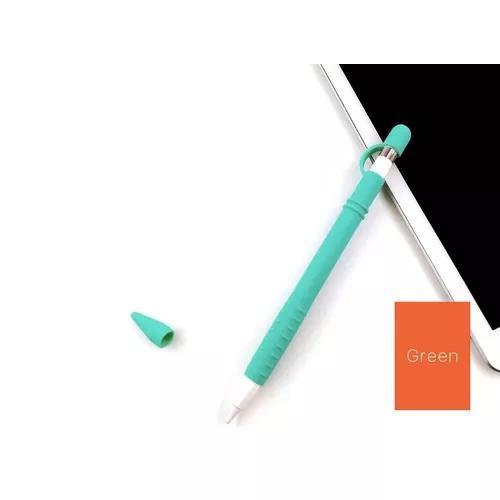 Case protetor apple pencil completo verde ipad top