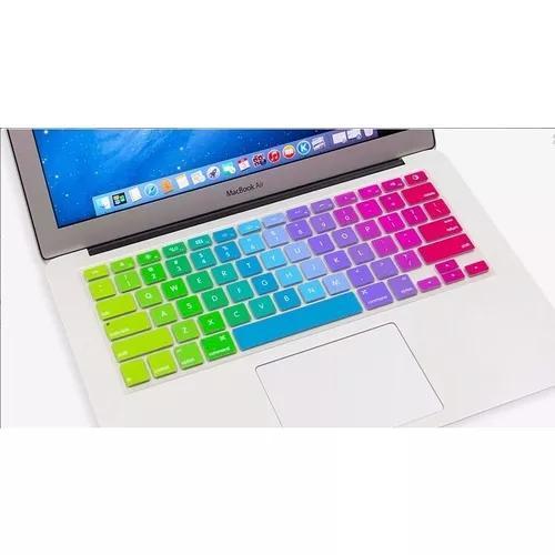 Protetor teclado macbook 13 15 17 air pro arco íris barata