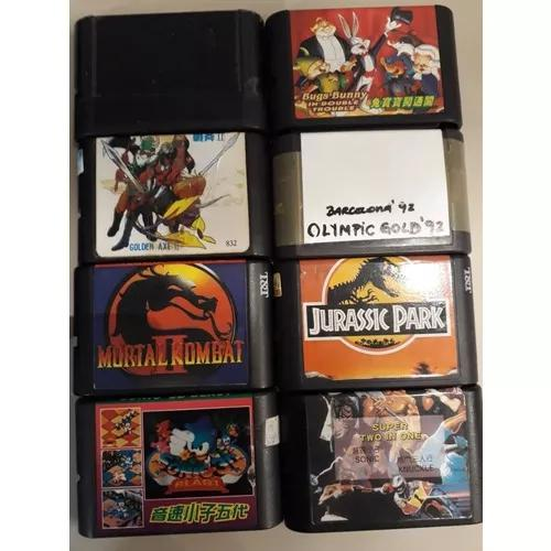8 Cartuchos Mega Drive Paralelo Anos 90 Tudo Funcionando