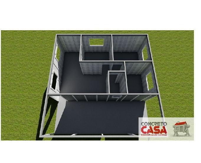 Construção de casa de concreto pré-moldada 81m²
