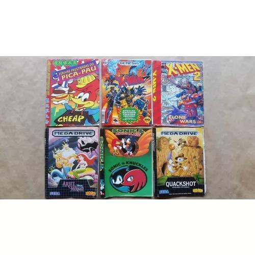 Encartes para caixas de jogos mega drive leia frete r$12
