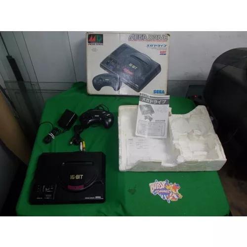 Mega drive japonês na caixa 1 controle 6 botões cabo e