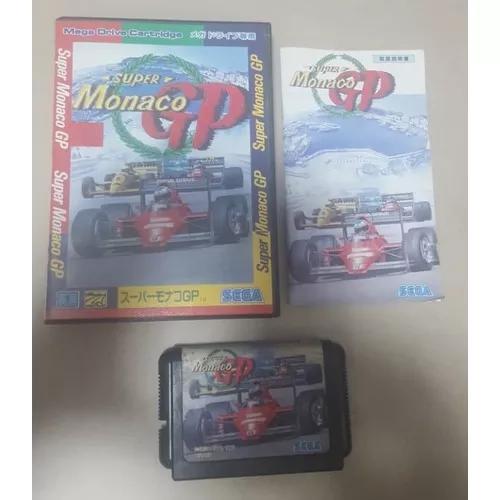 Mega drive jogo original completo super monaco gp japones
