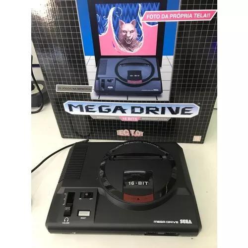 Mega drive tectoy 22 jogos, 2 controles, cartucho original