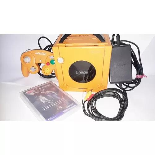 Nintendo game cube laranja + gameboy player - japones