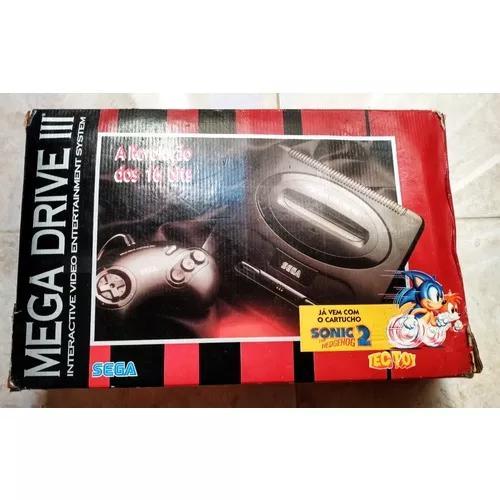 Sega mega drive 3 1995 na caixa. nota de compra. 11 jogos