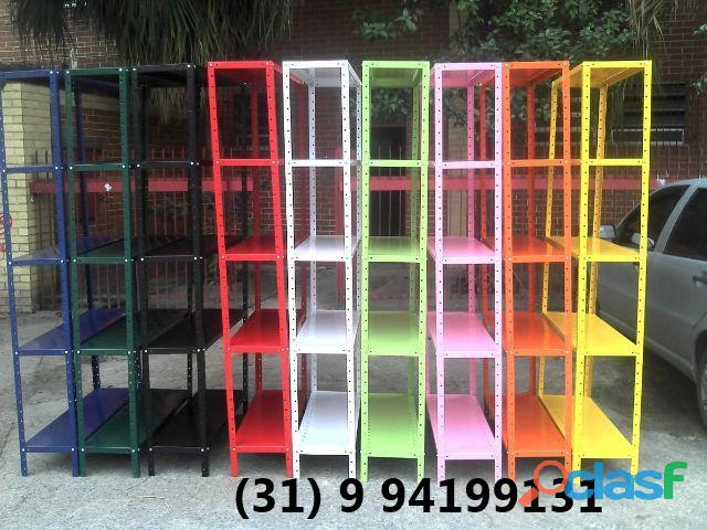 Prateleiras coloridas   novas   frete gratis sauros log