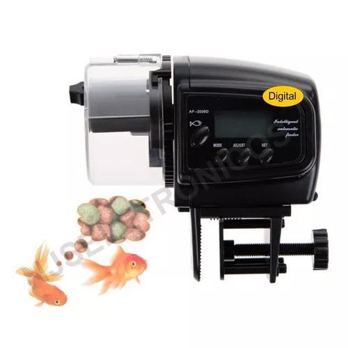 Alimentador automático para peixes de aquário grãos e