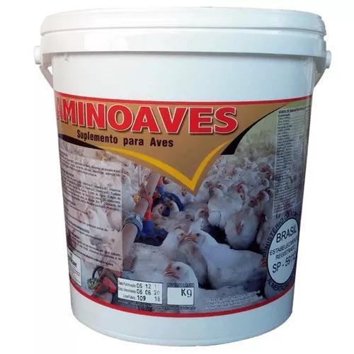 Aminoaves 2 kg núcleo p/ misturar ração agrocave +
