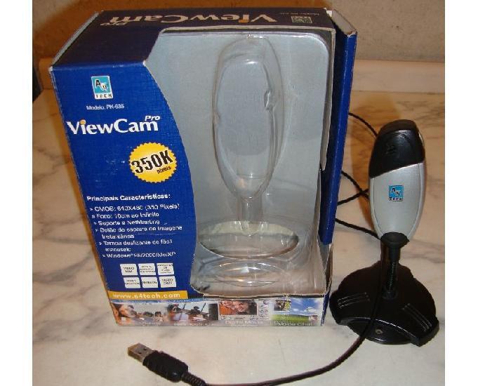 Web cam a4 tech, mod. pk 635, 350k pixels, sem microfone, se