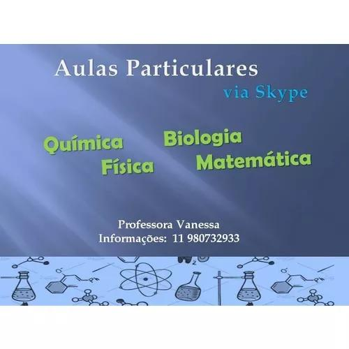 Aulas particulares. química. física. mat