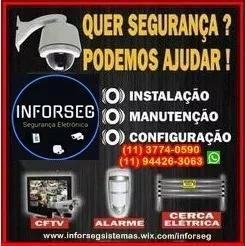 Instalação câmeras segurança/alarmes/controle de acesso
