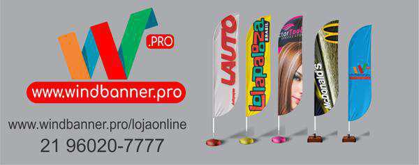 Wind banner para seu negócio. produção super rápida