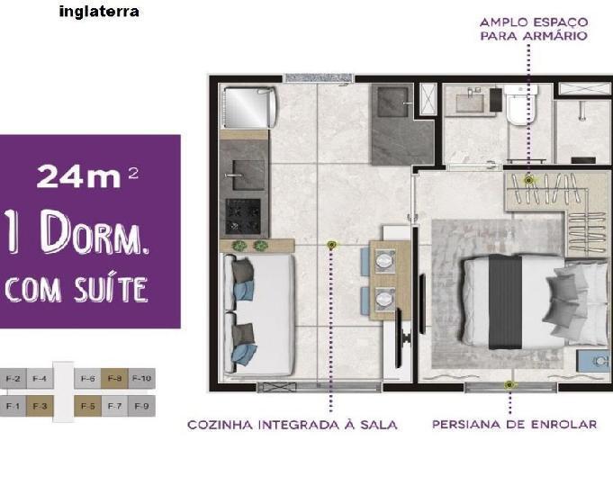 Apartamento no vila andrade de 1 e 2 dorm (24m²) e 34m²