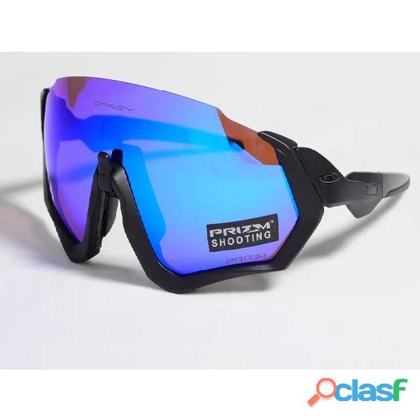 Oculos de sol esportivo flight   neon azul prizma