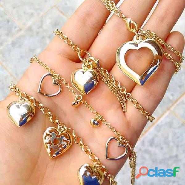 Semi jóias folheado a ouro