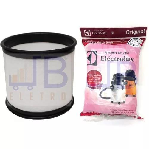 Filtro permanente + 3 sacos aspirador electrolux gt3000 pró