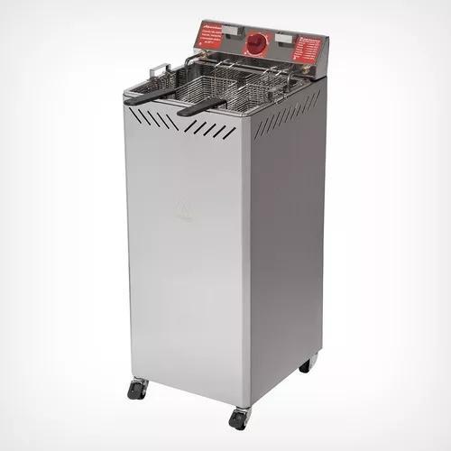 Fritadeira elétrica industrial gabinete 25 lt água óleo