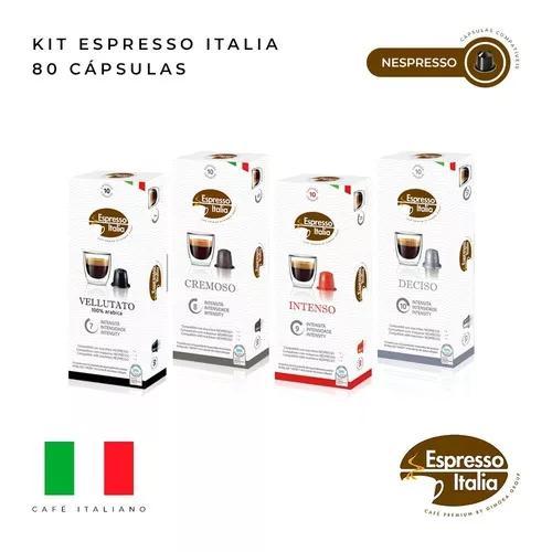 Kit 80 capsulas café compativeis nespresso- espresso italia