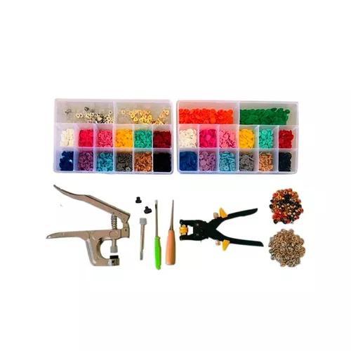 Kit alicate de botões ritas +560 botões+ alicate de ilhós