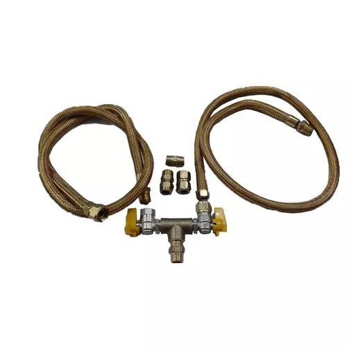 Kit flexível cooktop e forno gas encanado c/2 mangueira