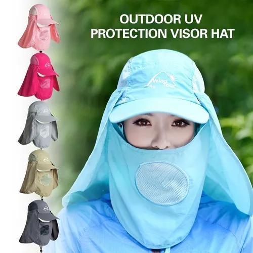 Chapéu viseira ao ar livre com proteção uv rosto pescoço