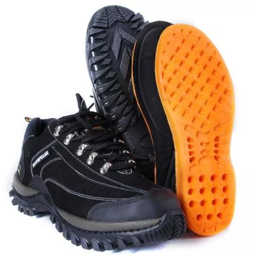 Coturno bota caterpillar masculino couro cat original