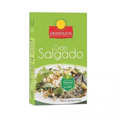 Grão salgado natural - granolevis - granola salgada