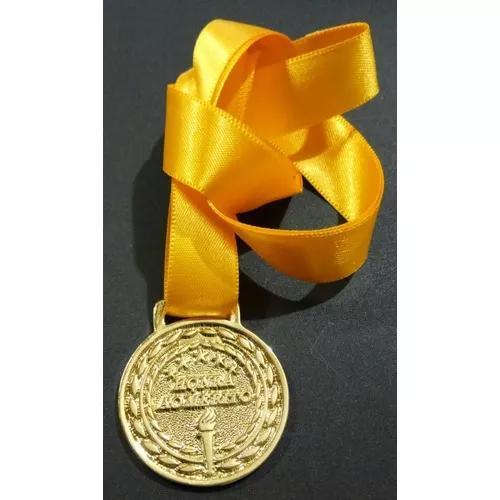 Medalha esportiva honra ao mérito 35mm ouro, prata e bronze
