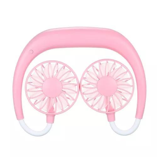 Portátil wearable ao ar livre sports legal fan cooler rosa