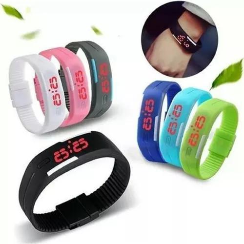 Relógio pulseira digital led acad
