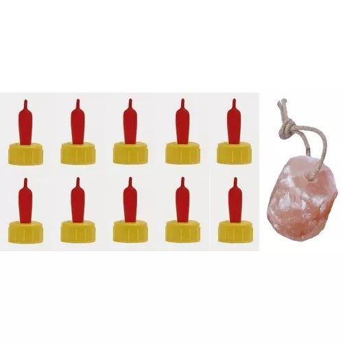 10 teteiras bicos de mamadeira + sal mineral caprinos ovinos