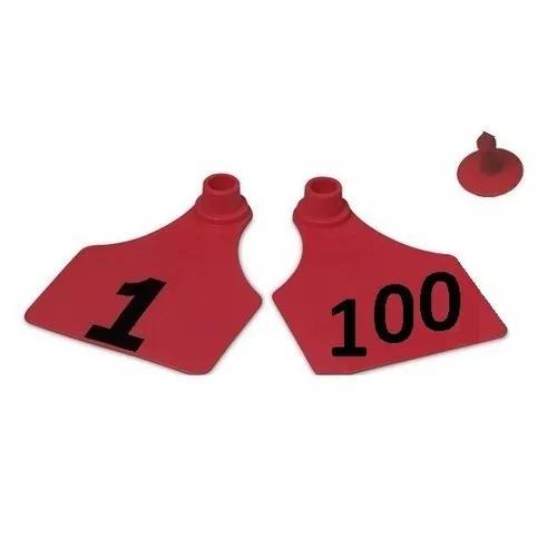100 brincos identificação tam. p bovinos caprinos suínos