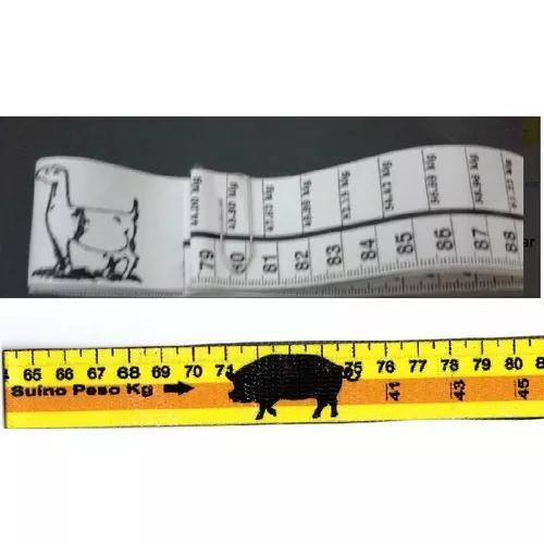 2 fitas métrica de pesar caprinos e suinos