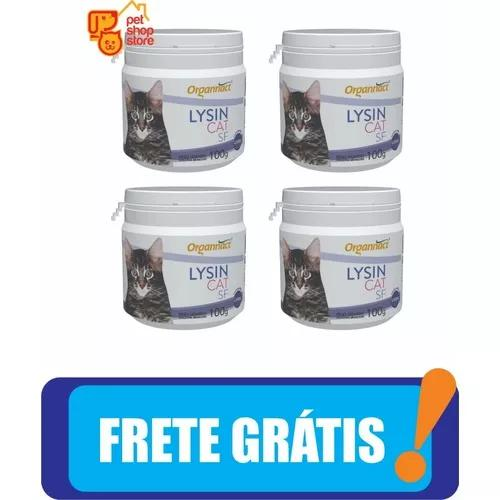 4 x lysin cat sf 100 g organnact 100g gato