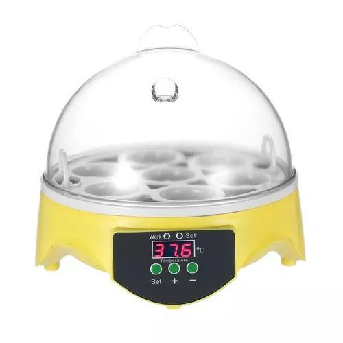 7 ovos mini digital ovo incubadora hatcher ovos transparente