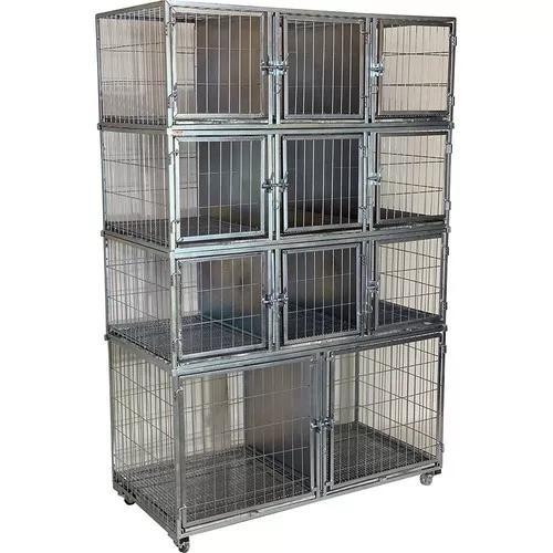 Gaiola canil cães e gatos 11 lugares banho e tosa pet shop
