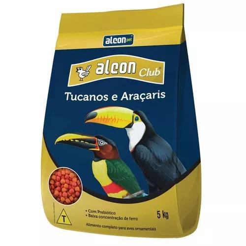 Ração alcon club tucanos e araçaris 5kg