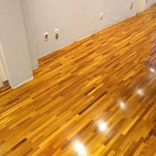 Restauração de pisos de madeira, raspag