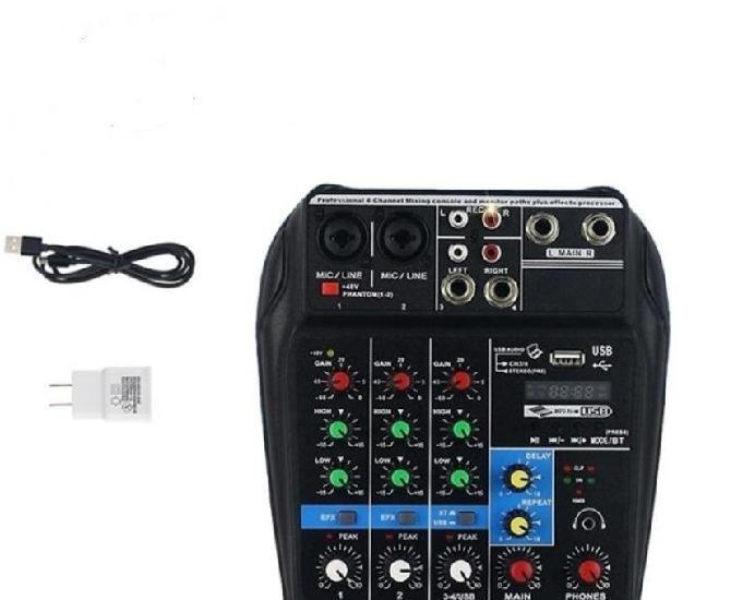 Udio mixer 4c interface frete grátis usb bluetooth fx