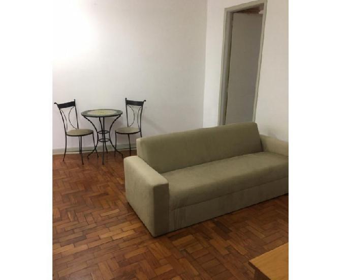 Apto 1 dorm com mobília completa - metro república -