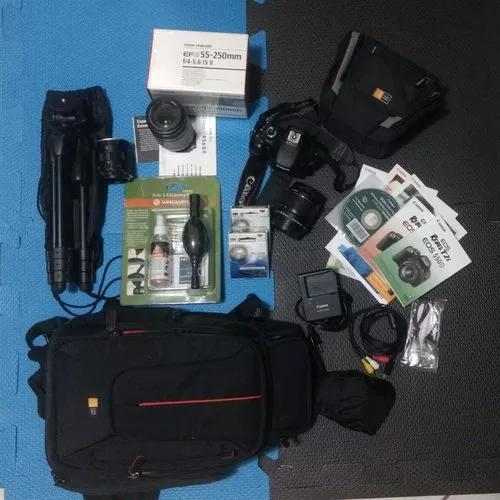Camera canon eos rebel t2i kit completo mais acessorios